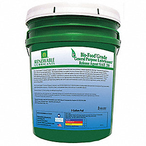 Bio-Based Food Grade Release Agent, Food Grade Lubricant, 5 gal. Container Size