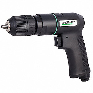 "0.5 HP General Duty Keyless Air Drill, Pistol Style, 3/8"" Chuck Size"