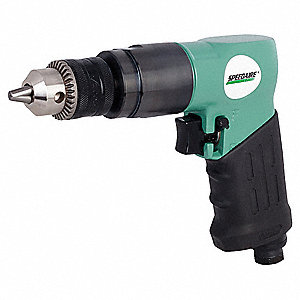 Air Drill,Keyed,3/8 In ,1800 RPM
