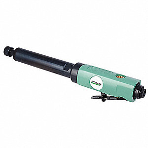 "Rear Exhaust Straight Air Die Grinder, 1/4"" Collet, 22,000 rpm Free Speed, 0.5 HP"