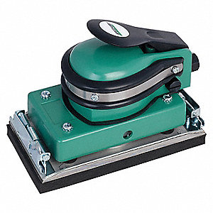 "Air Random Orbital Sander, 3-5/8"" x 6-1/2"" Foam Rubber, 5/32"" Orbit Dia., Non-Vacuum, 0.30 HP"