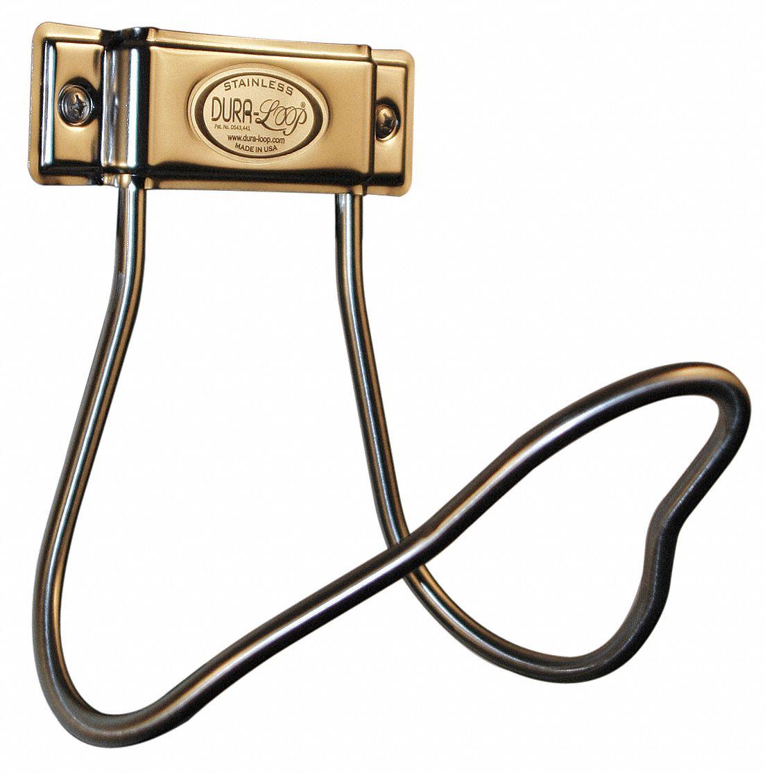 Accu-Brand Hose Hanger (Stainless Steel, 8 in Diameter) Hose Reel, Hose Cart, Hose Holder, Hose Butler, Hose Hider, Hose Pot, Hose Stand, Hose Hanger