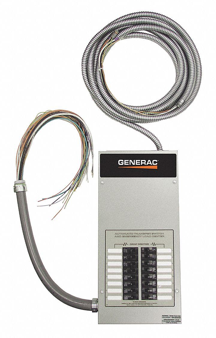 GENERAC Automatic Transfer Switch, 100A, Gray - 21AC97|RXG16EZA1 - Grainger | Generac Automatic Transfer Switches Wiring |  | Grainger