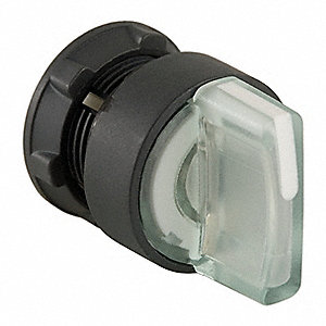 22mm LED 2- Position Illuminated Selector Switch Operator, Plastic, White
