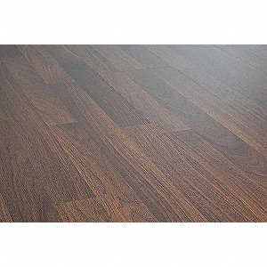 "50-1/2"" x 7-13/32"" Walnut Laminate Flooring with 12.98 sq. ft. Coverage Area, Oak"