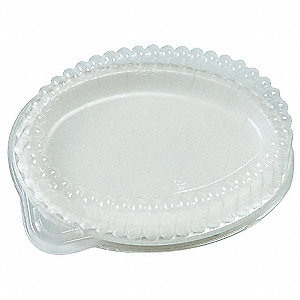 Platter Dome Lid,7 In,Clear,PK250