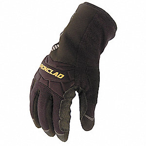 Cold Protection Gloves, Insulated Lining, Gauntlet Cuff, Black/Black, S, PR 1