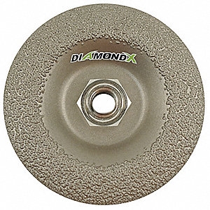 "4"" Type 27 Diamond Depressed Center Wheels, 5/8"" Arbor, 5/32""-Thick, 15,300 Max. RPM"
