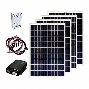 Solar Panel Kit,400W,5.56A,18VAC/DC