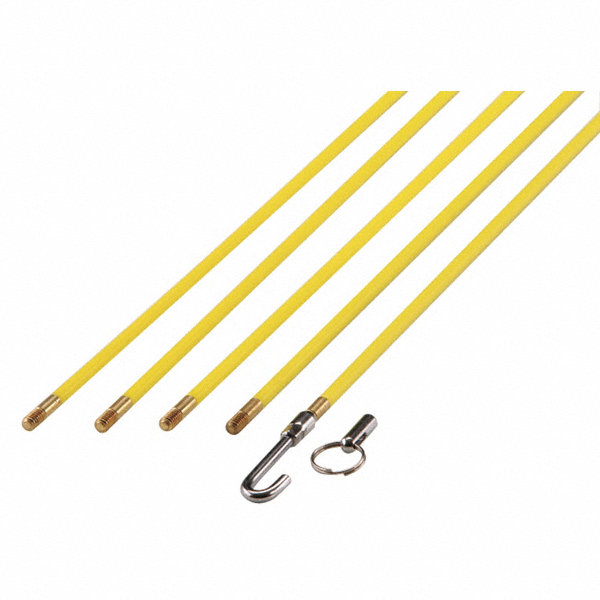 Westward wire fish stick set 24 ft 7 pc 21cj18 21cj18 for Electrical fish sticks
