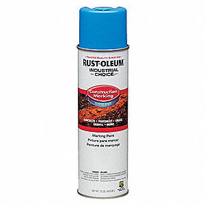 Water-Base Construction Marking Paint, Caution Blue, 15 oz.