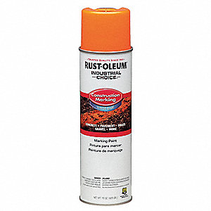Water-Base Construction Marking Paint, Fluorescent Orange, 15 oz.