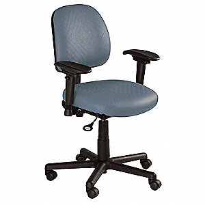 "Blue Nylon Task Chair 15"" Back Height, Arm Style: 2-Way Adjustable"