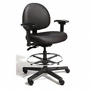 "Intensive 24/7 Chair,Black,21-29""Seat Ht"