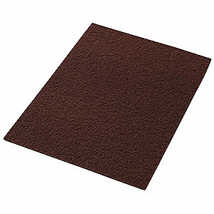 Stripping Pad,12 In x 18 In,Maroon,PK10