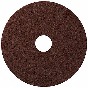 "14"" Synthetic fibers Round Stripping Pad, 350 rpm, Maroon, 10 PK"