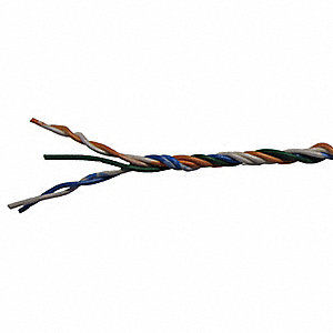 Unshielded Distributing Frame Wire, Jacket Color: No Jacket, Number of Conductor Pairs:  2.5
