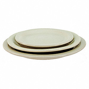 Plate,7-1/2 In.,Bone White,PK36