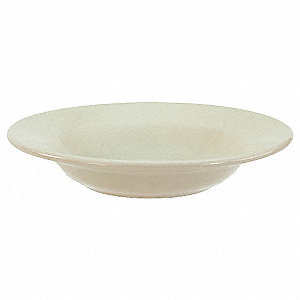 Rimmed Soup Bowl,Bone Wht,15 oz.,PK24