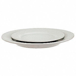 Plate,11-1/4 In.,Bright White,PK12