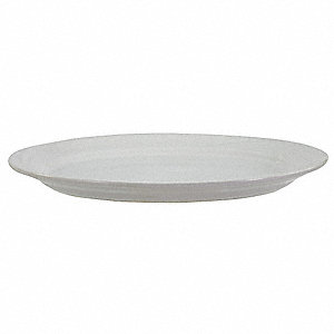 Plate,9-5/8 In.x7 In.,Bright White,PK24