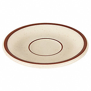 Saucer,6 In.,Brown,PK36