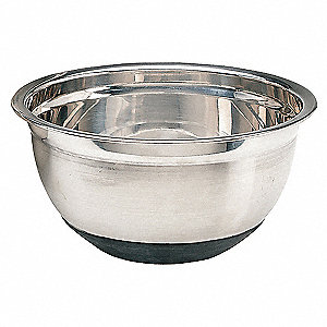 3 qt. Stainless Steel and Rubber Mixing Bowl