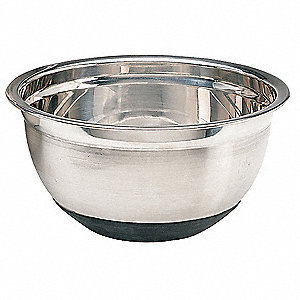 5 qt. Stainless Steel and Rubber Mixing Bowl