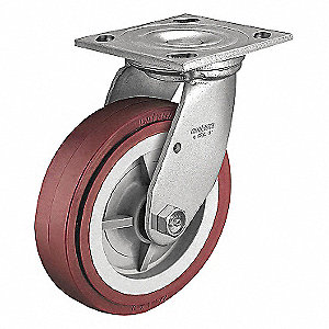 8IN RIGID URETHANE PLATE CASTER