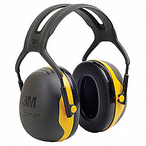 24dB Over-the-Head Ear Muff, Black/Yellow&#x3b; NRRb 24 dB. CSA Class A.