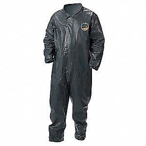 Collared Coverall,Open,Gray,M,PK6