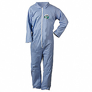 Pyrolon® Plus 2, Flame-Resistant Coverall, Size: 3XL, Color Family: Blues, Closure Type: Zipper