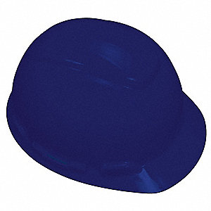 Front Brim Hard Hat, 4 pt. Pinlock Suspension, Navy, Hat Size: 6-1/2 to 8