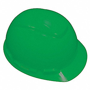 Front Brim Hard Hat with Uvicator™ Sensor, 4 pt. Ratchet Suspension, Green, Hat Size: 6-5/8 to 7-3/4