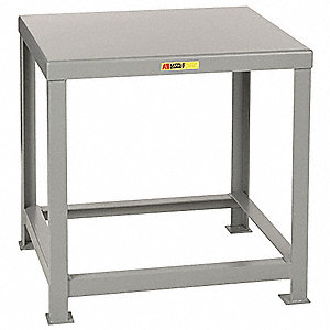 "Fixed Height Work Table, Steel, 16"" Depth, 24"" Height, 30"" Width,10,000 lb. Load Capacity"