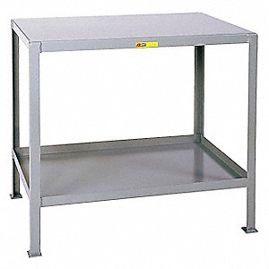 "Fixed Work Table,Steel,60"" W,24"" D"