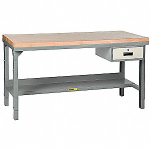 "Workbench, 60"" Width, 30"" Depth  Butcher Block Work Surface Material"