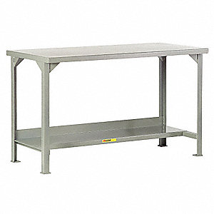 "Workbench, 48"" Width, 24"" Depth  Steel Work Surface Material"
