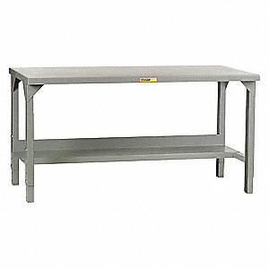 "Workbench, 72"" Width, 30"" Depth  Steel Work Surface Material"