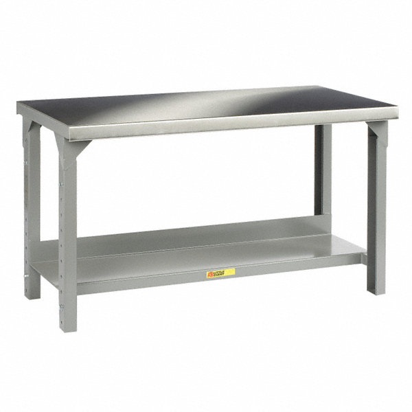 little giant bolted workbench stainless steel 30 depth 27 to 41 height 60 width 4500 lb. Black Bedroom Furniture Sets. Home Design Ideas