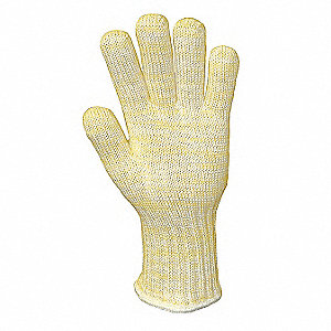 Heat Resistant Gloves, Kevlar®/Nomex®/Cotton, 500°F Max. Temp., L, PK 12