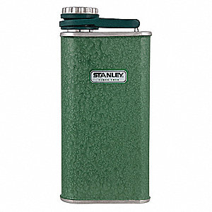 Flask, 8 oz. (0.2L) Hammertone Green Stainless Steel