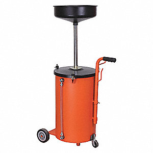 Portable Oil Drain,13 gal.,15 1/4 In.