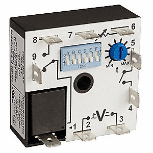 Multi-Function Encapsulated Timing Relay, 12 to 125V DC, 24 to 240V AC, Mounting: Surface, SPDT