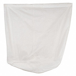Hamper Bag,White,30 gal.,40 In.,Nylon