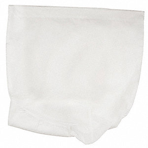 "Nylon, Drawstring Hamper Bag L X 30"" W, White"