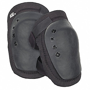 Hard Shell 1-Strap Knee Pads, Black