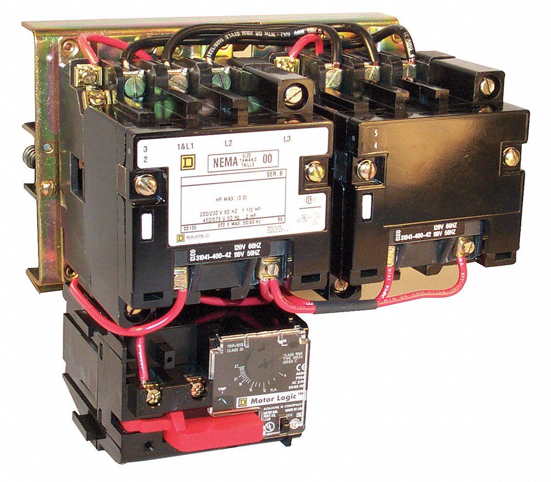 Square d nema size 0 motor starter wiring diagram for Square d motor starter wiring
