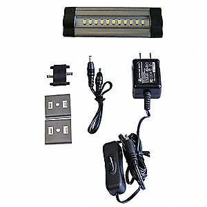 "4"" x 1-1/4"" x 3/8"" Non-Dimmable LED Striplight with 90 Lumens"