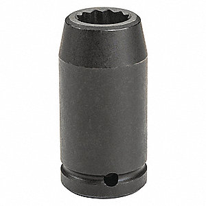 Impact Socket,3/4 In Dr,30mm,12 pt
